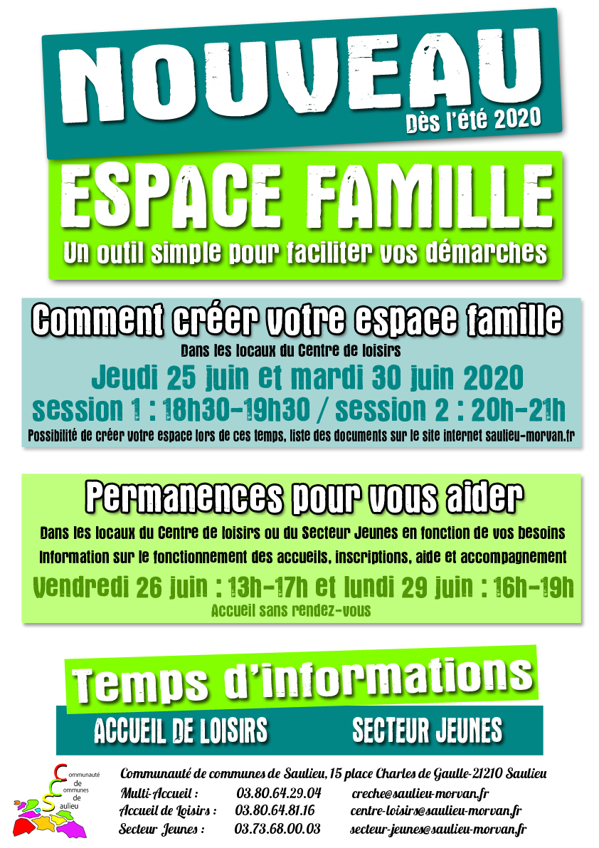 AFFICHE ESPACE FAMILE FORMATIONS